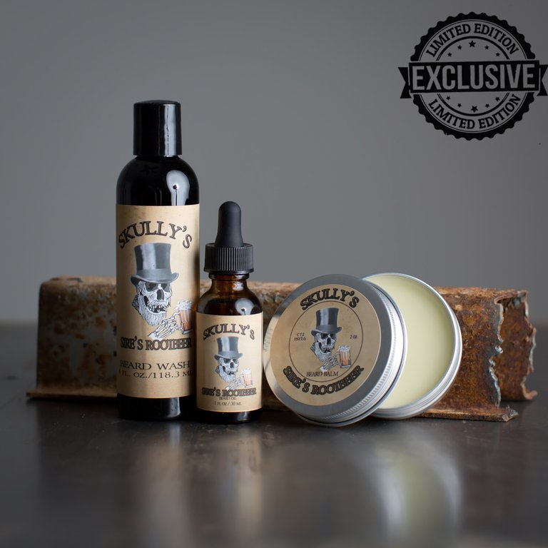 Sires Root Beer Beard oil, Beard Wash & Beard Balm Combo Pack ( Limited Edition) Only Available Until June 18th - Skully's Ctz Beard Oil