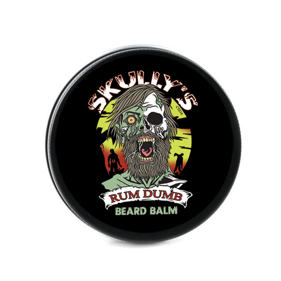 Rum Dumb Beard Oil & Beard Balm Combo Pack (Beards Never Die Collection) Bay rum beard oil and beard balm, zombie beard balm, skullys ctz beard oil