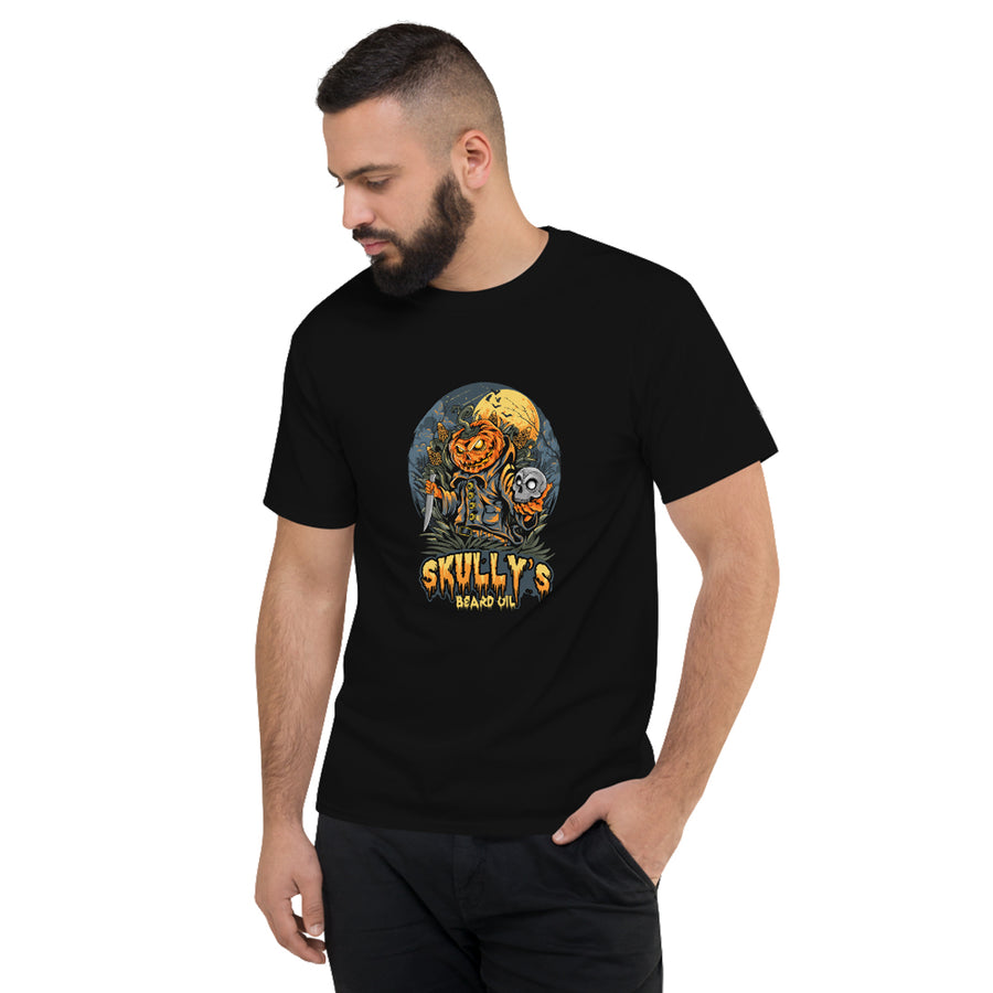 Halloween tshirt, pumpkin head tshirt, halloween shirt, by skullys beard oil