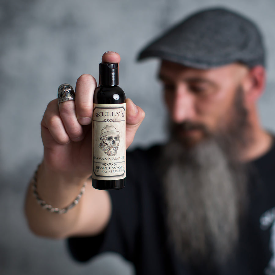 Havana Smoke Beard, Hair & Body Wash - 4 oz. - Skully's Ctz Beard Oil