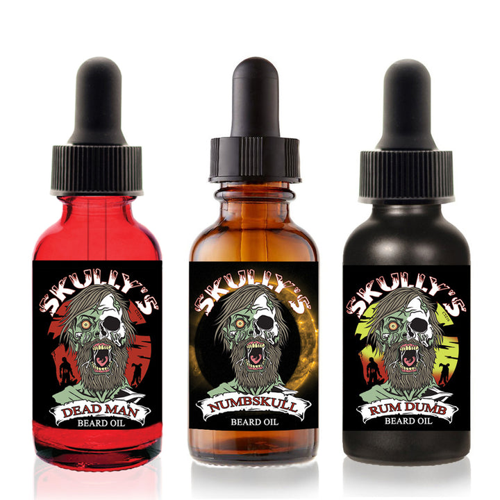 Skully's Beards Never Die Beard Oil Collection - best beard oil beard growth oil for men, bears oil
