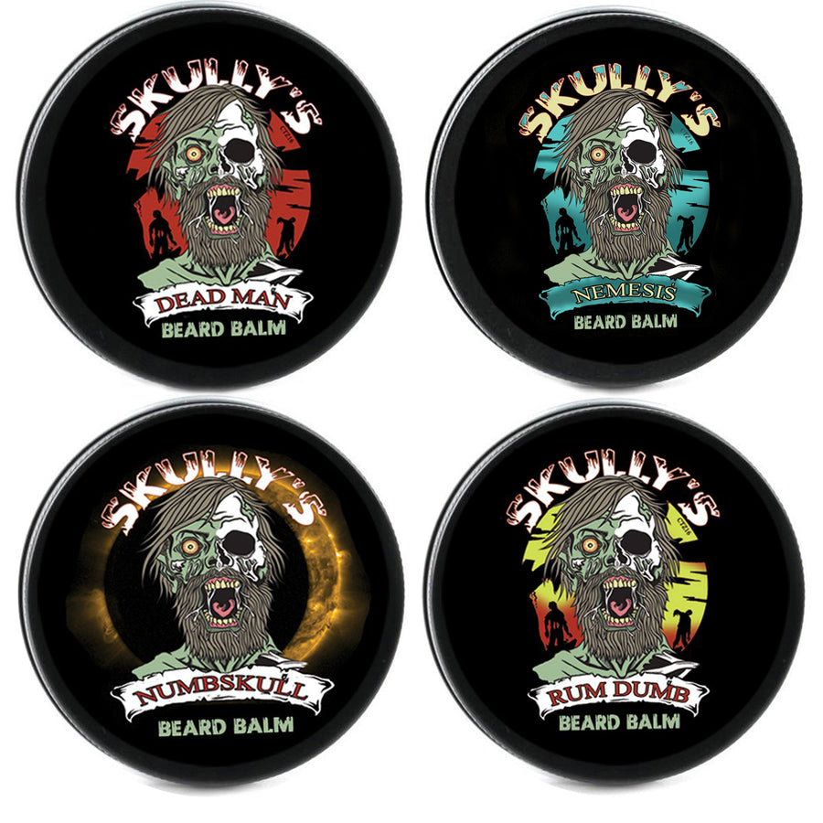 Skully's Beards Never Die Beard Balm Collection - 4 Pack