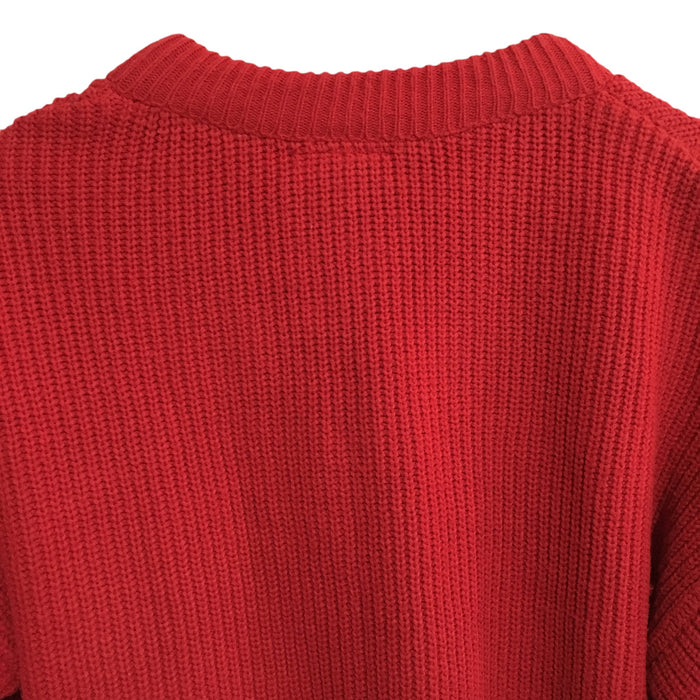 Coca-Cola V-Neck Knitted Sweater Mens Large