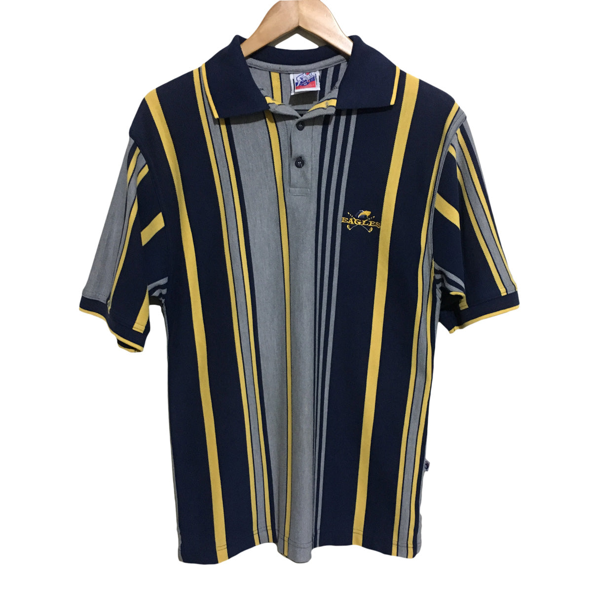 West Coast Eagles AFL 1990's Golf Polo Shirt Mens Medium