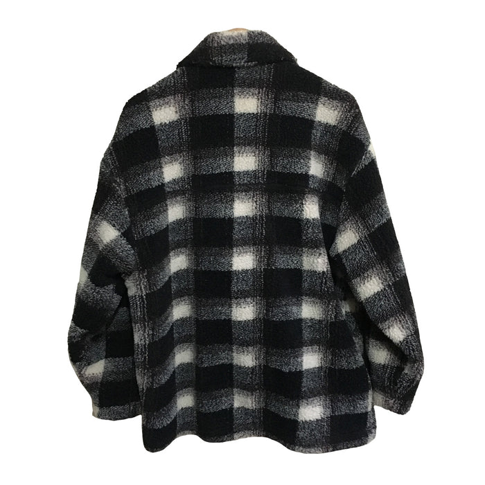 Sun Cratz Surfwear Plaid Fleece Jacket Mens Small