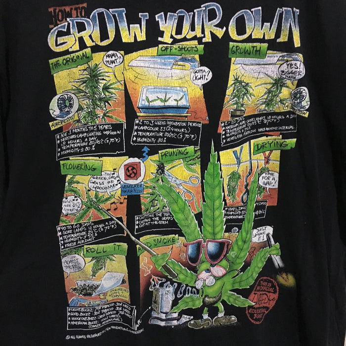 How To Grow Your Own T.Weedy Weed Amsterdam T-Shirt Mens XL