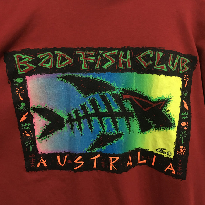 Bad Fish Club Australia T-Shirt Mens Large