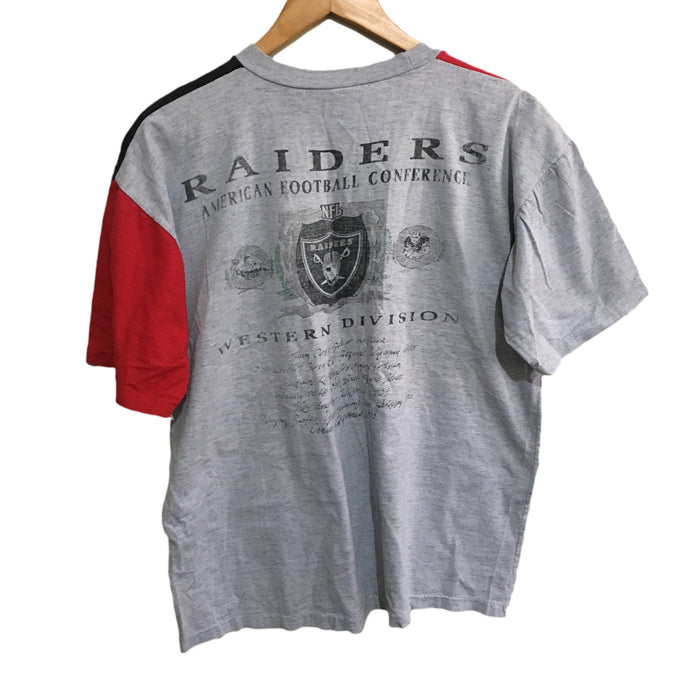 Los Angeles Raiders NFL Colour Block Miller T-Shirt Large