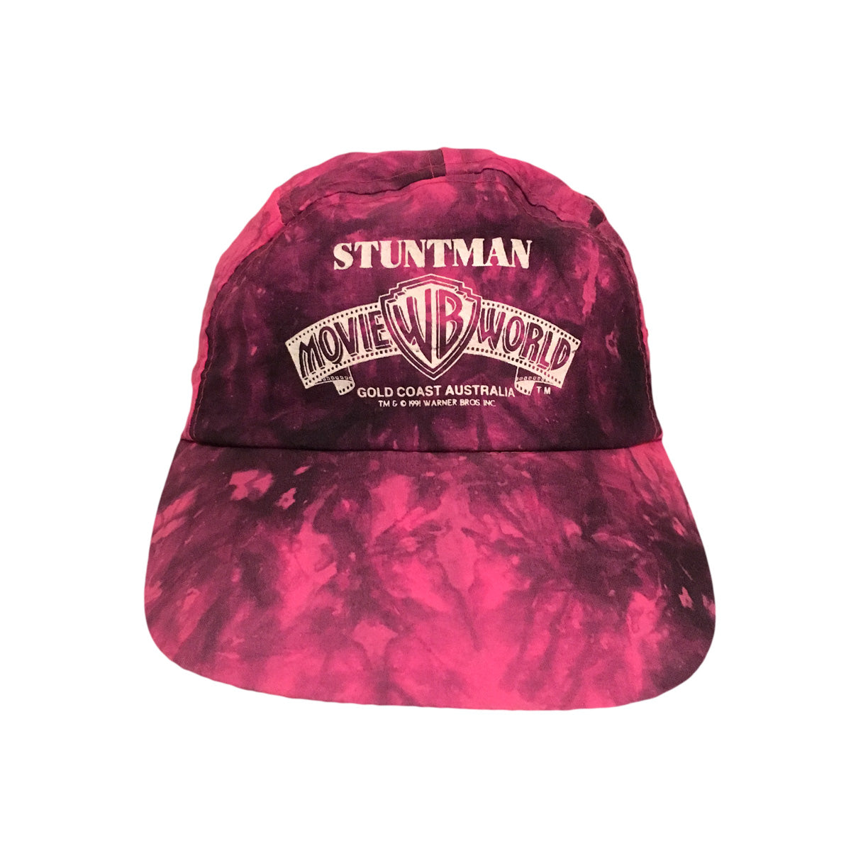 Movie World Stuntman 1991 Tie Dye 5 Panel Cap