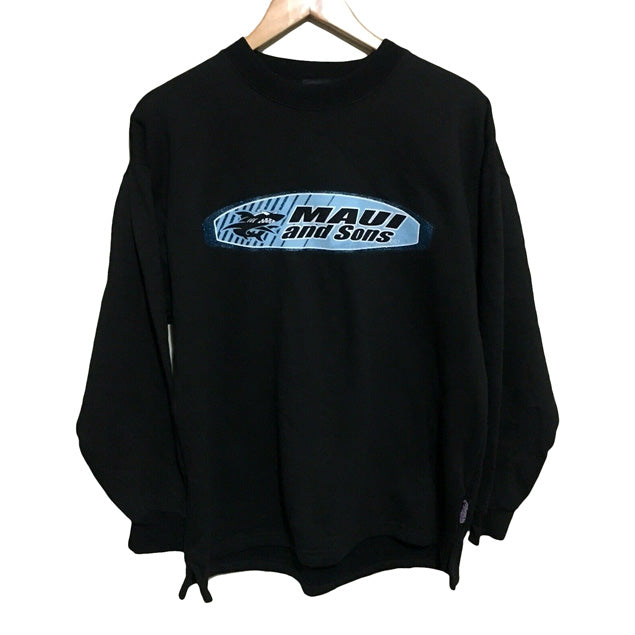 Maui and Sons Surfwear Vintage 90's Crewneck Jumper Mens Medium