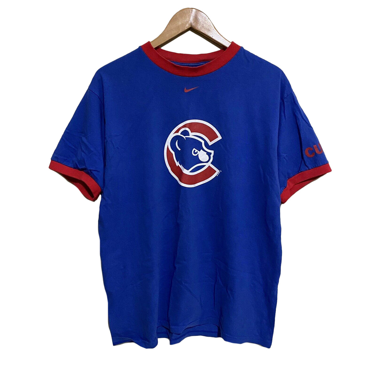 Chicago Cubs Nike 2005 Vintage Ringer T-Shirt Mens Medium