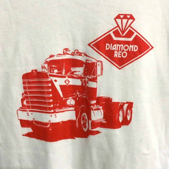 Diamond REO Truck Vintage 80's Ringer T-Shirt Mens Large (Slim Fit)