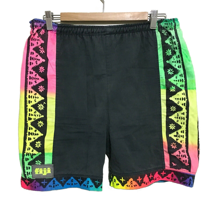 Fiji Neon Surfwear Vintage 90's Shorts Mens Medium