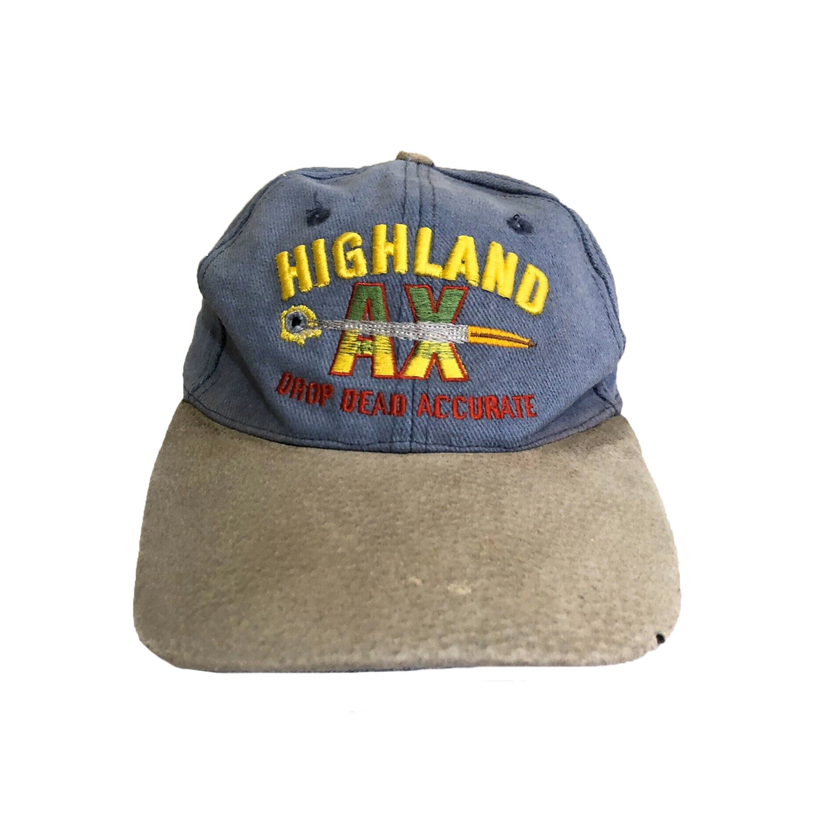 Highland AX Western Firearms Bullet Two Tone Suede Mens Cap