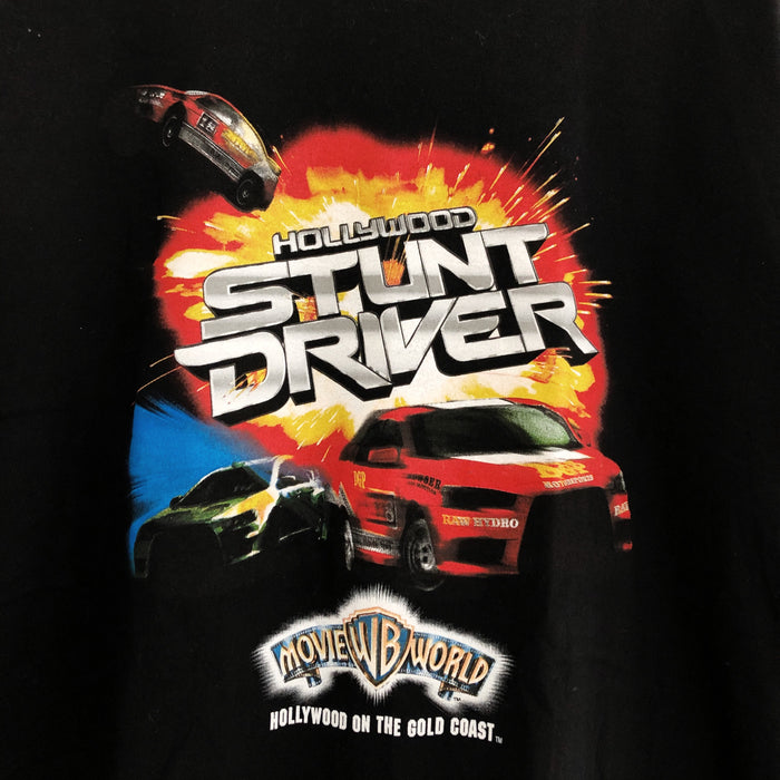 Hollywood Stunt Driver Movie World T-Shirt Mens Large