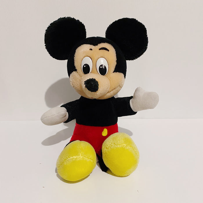 "Mickey Mouse Disney Vintage 80's Small 10"" Stuffed Plush Toy"