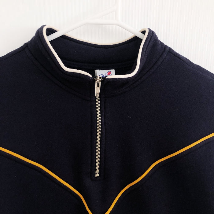 West Coast Eagles AFL Vintage 90's 1/4 Zipper Windcheater Jumper Mens Medium