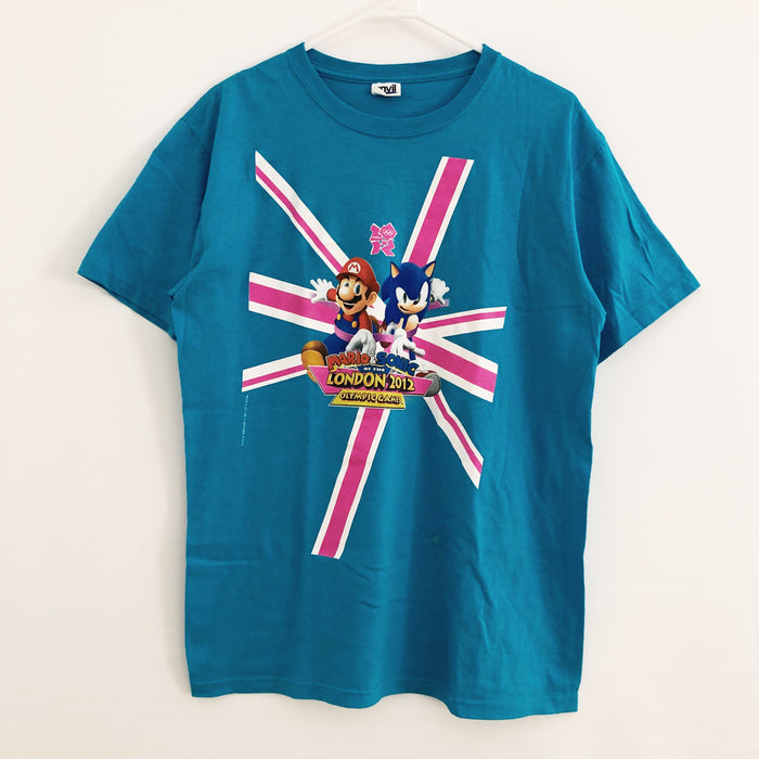 Mario & Sonic At The London 2012 Olympics Games T-Shirt Mens Large