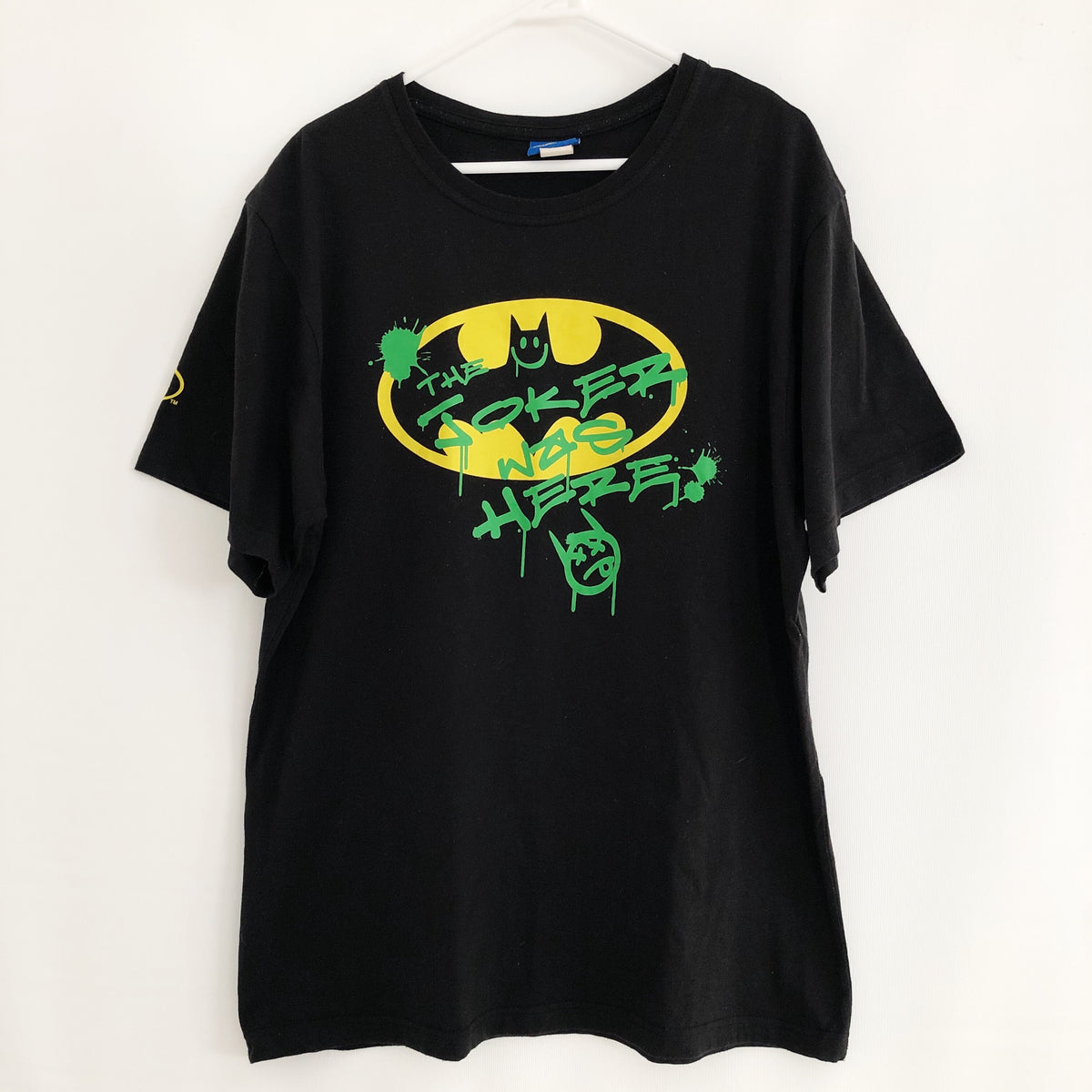 The Joker Was Here Batman Graffiti T-Shirt Mens XL