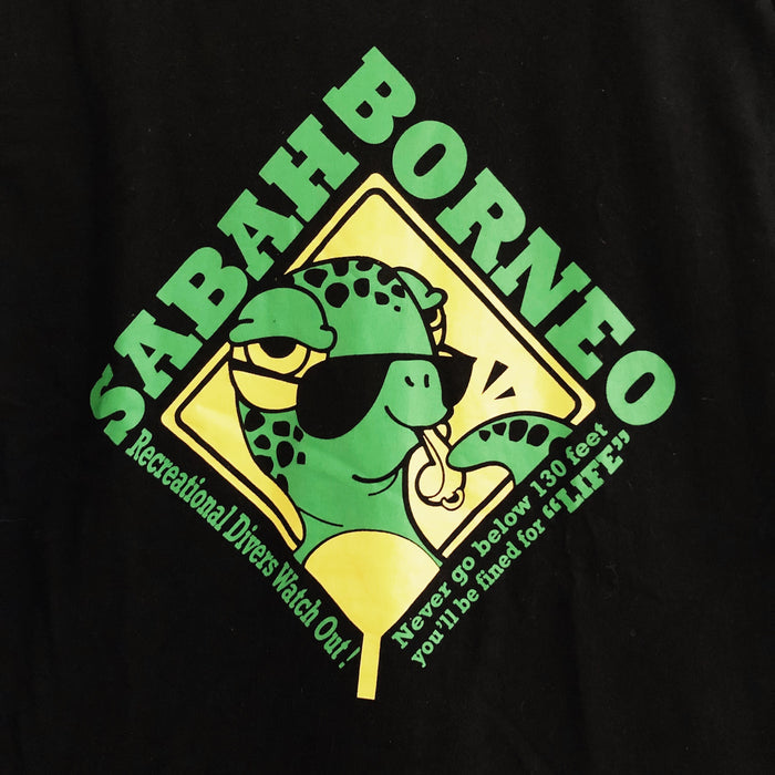 Sabah Borneo Turtle Travel Vintage T-Shirt Mens Large