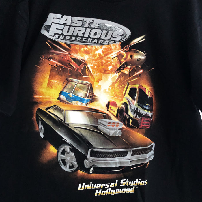 Fast & Furious Supercharged Universal Studios Hollywood T-Shirt Mens XL
