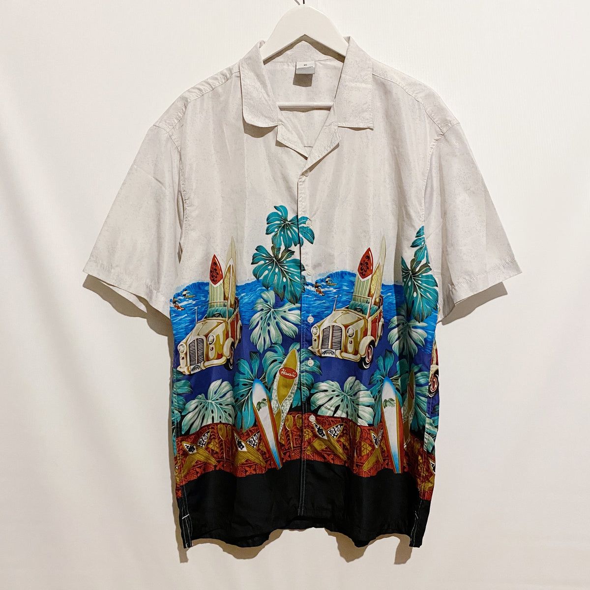 Solutions Surfboards Hawaiian Shirt Vintage 90's Mens XL