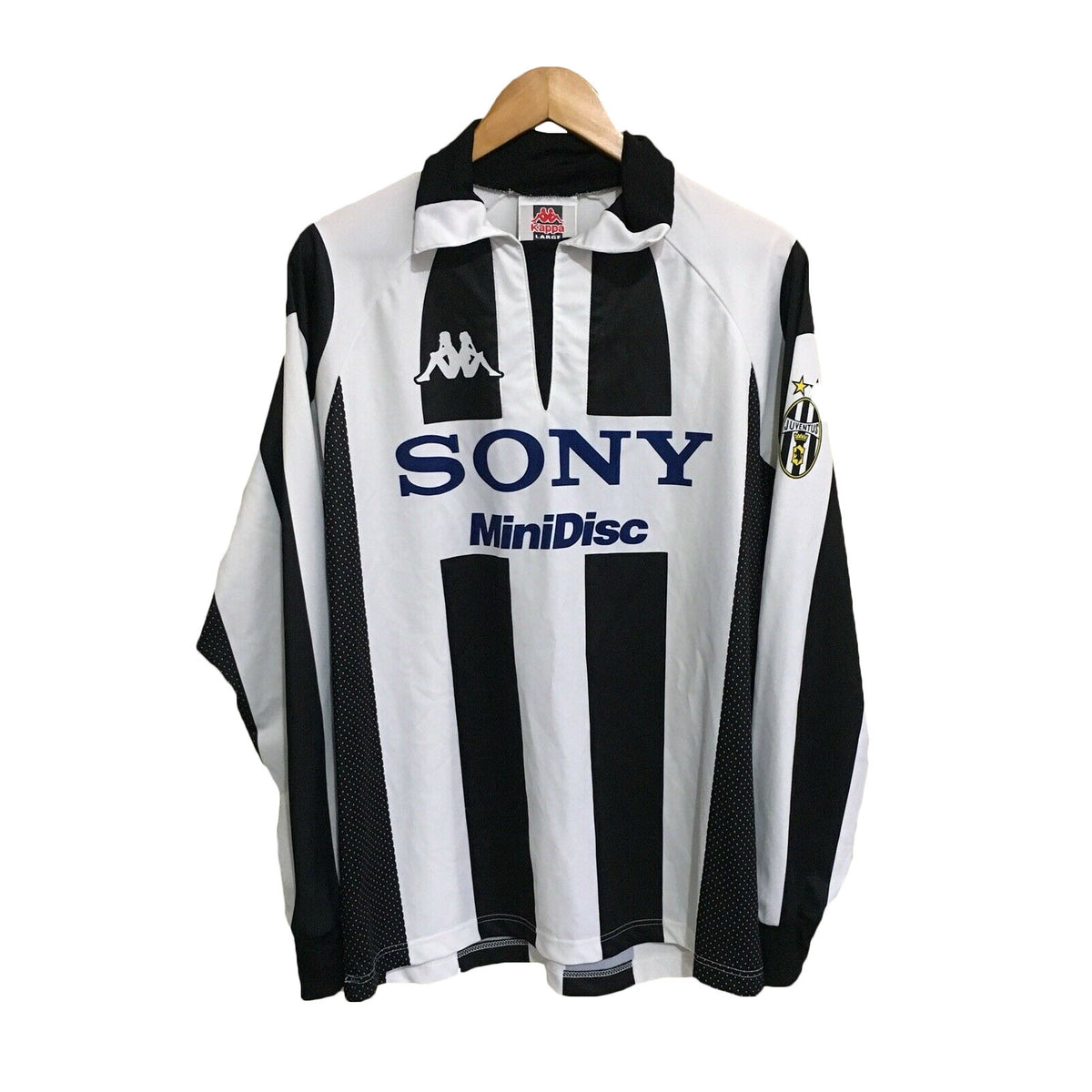 Juventus Kappa 1997/1998 Soccer Football Long Sleeve Jersey Mens Large