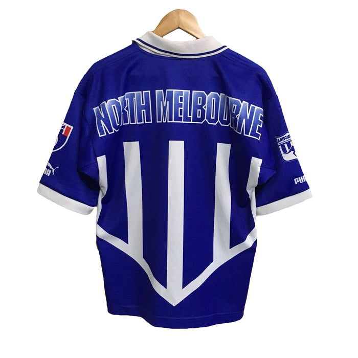 North Melbourne Kangaroos Puma Vintage 90's AFL Football Rugby Guernsey Mens Large