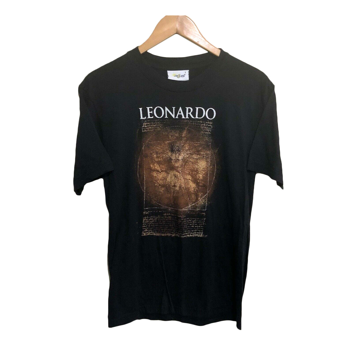 Leonardo Da Vinci Vitruvian Man Vintage T-Shirt Mens Large (Fits Medium)