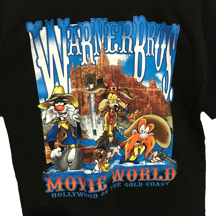 Looney Tunes Movie World Wild West 1998 Vintage T-Shirt Mens Medium