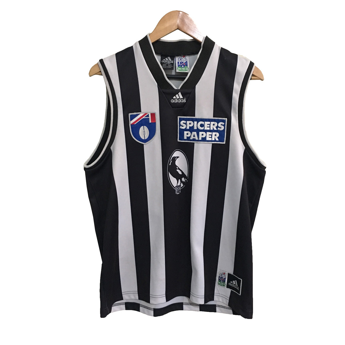 Collingwood Magpies Adidas Vintage 1998 AFL Football Guernsey Mens XL