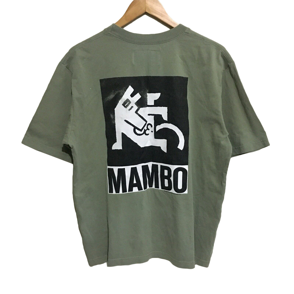Mambo Farting Dog Vintage Surfwear T-Shirt Mens Large