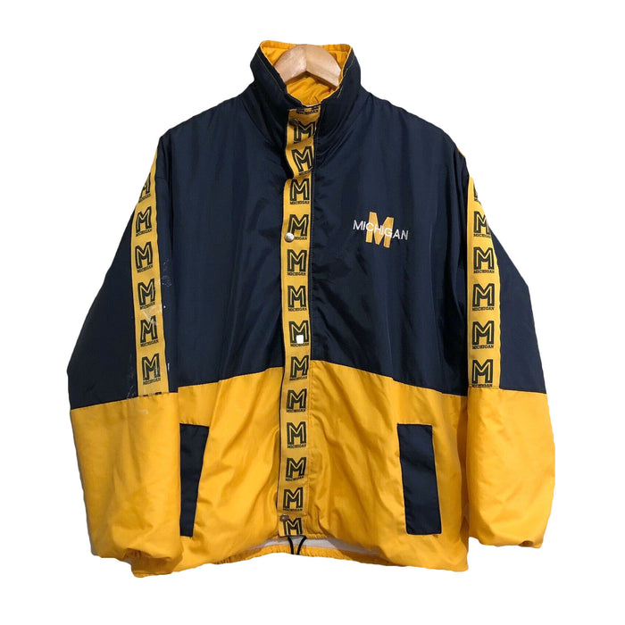 Michigan Wolverines NCAA College Vintage 90's Jacket Mens Medium