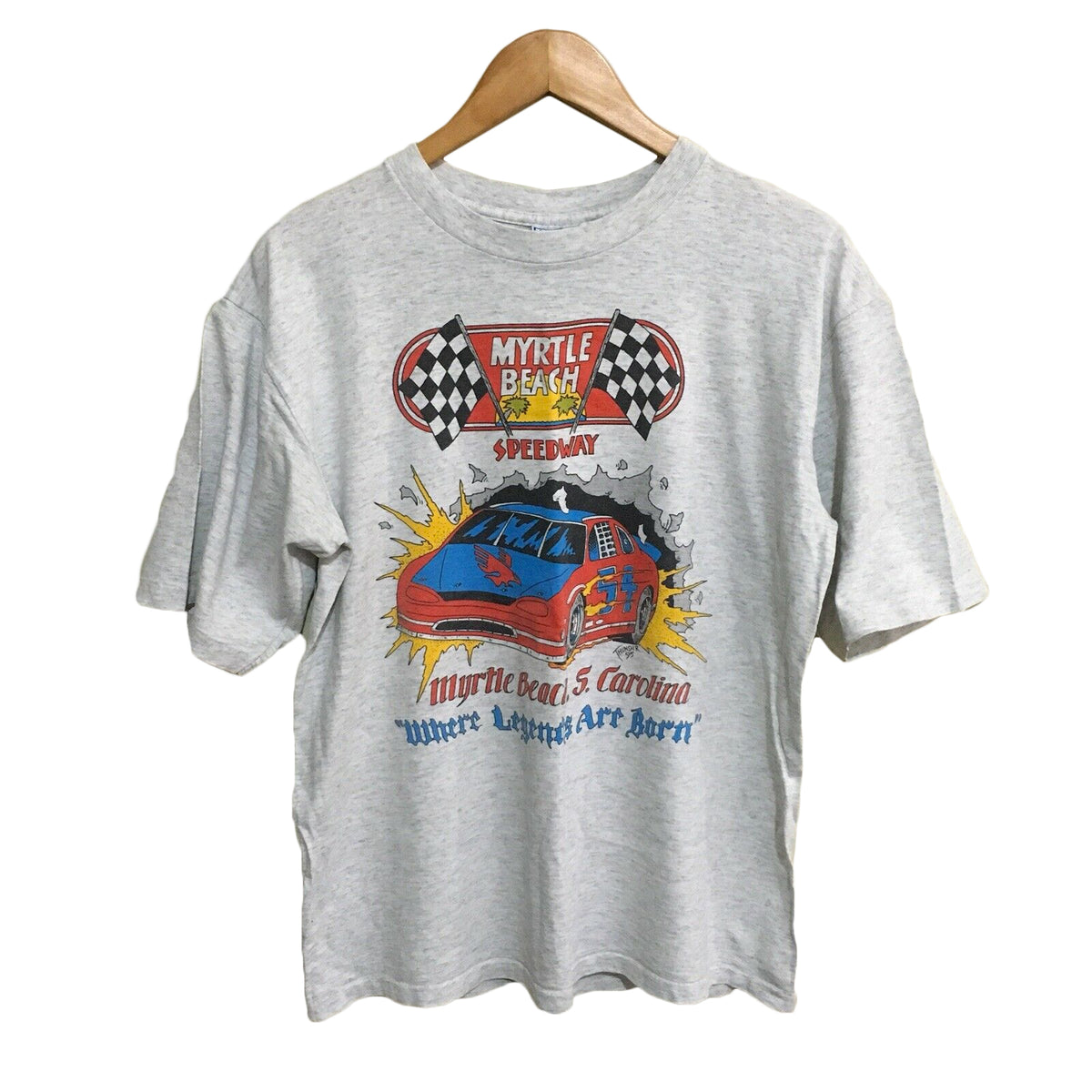 Myrtle Beach Speedway Nascar Racing Vintage 90's T-Shirt Mens Large