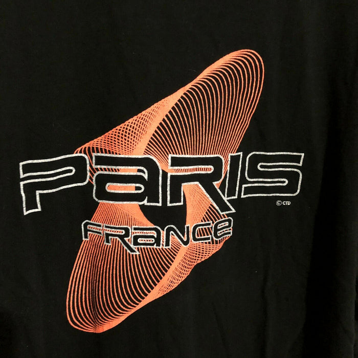 Paris France Neon Geometric Travel Vintage 90's T-Shirt Mens XL