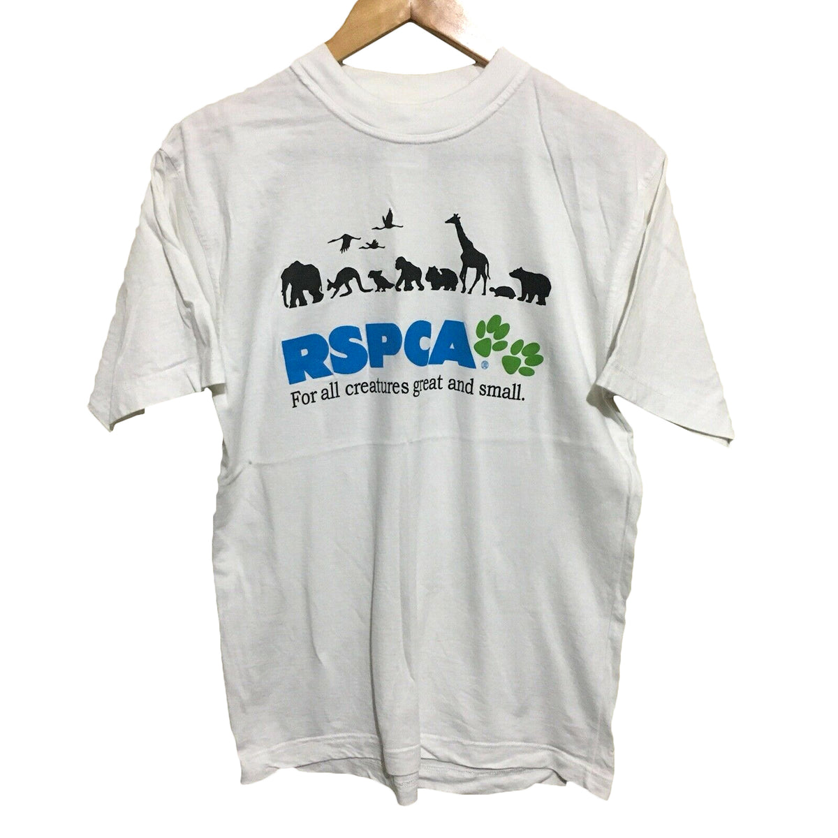 RSPCA For All Creatures Great And Small Vintage T-Shirt Mens Small