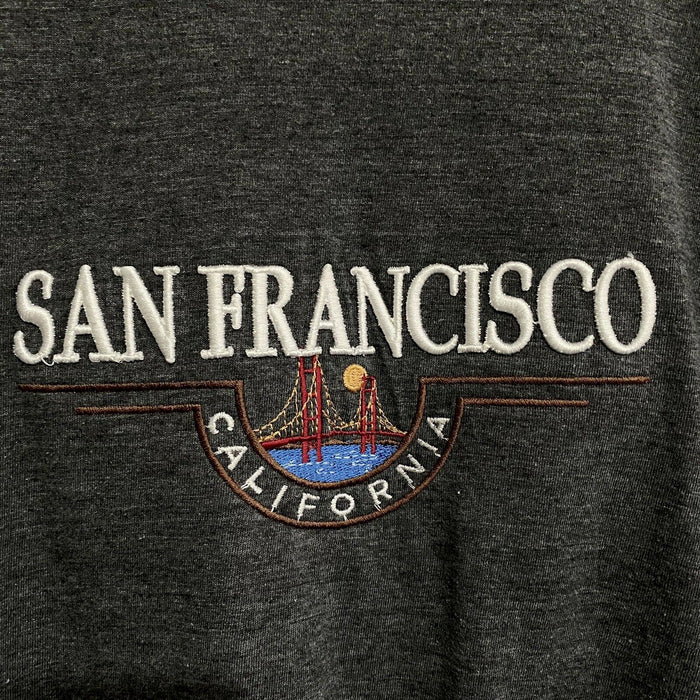 San Francisco California Embroidered Vintage T-Shirt Mens XL