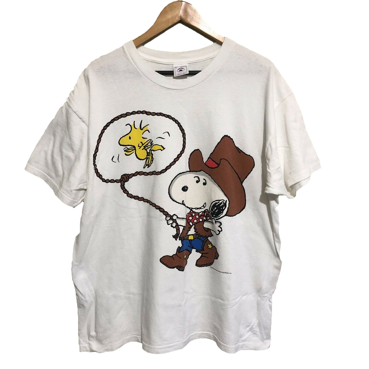 Snoopy Woodstock Cowboy Looney Tunes T-Shirt Mens XL