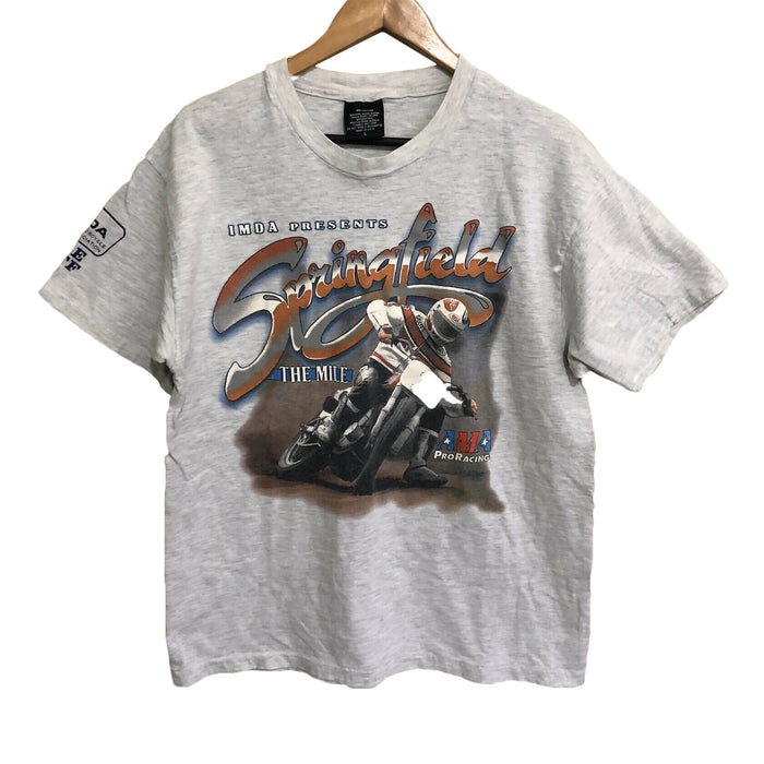 Springfield The Mile Speedway AMA Pro Racing Vintage 90's T-Shirt Mens Large
