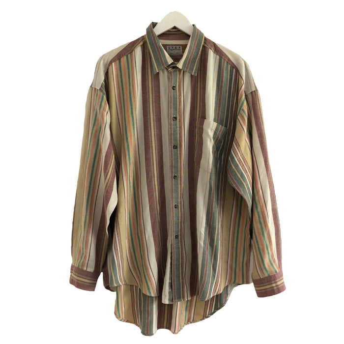Step Sportswear Striped Vintage 90's Button Shirt Mens Large