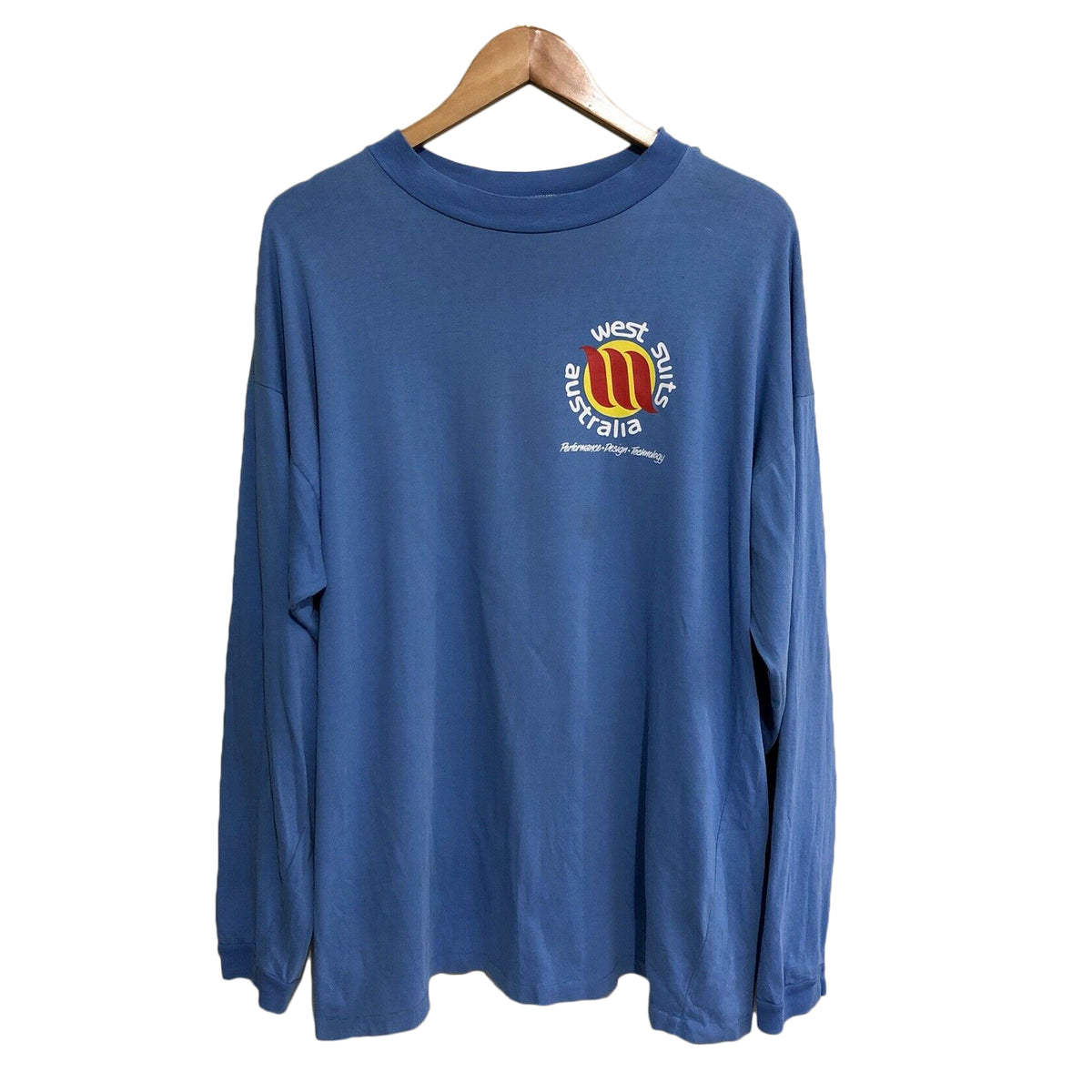 West Surfing Vintage Surfwear Long Sleeve T-Shirt Mens Large