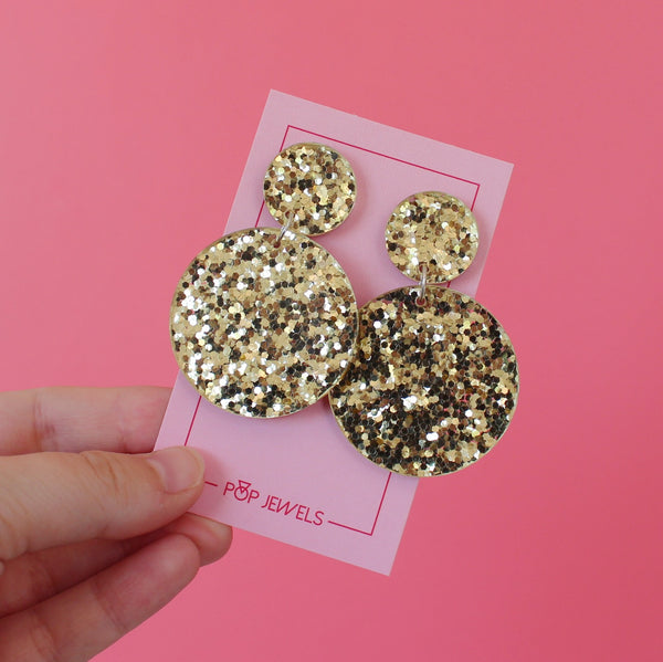 Disco Pops - Chunky Gold Glitter