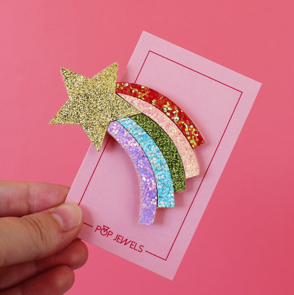 Pop Clips - Felt + Gold Glitter