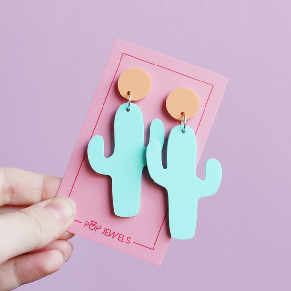 Prickly Pair - Pastel Mint/Pastel Orange