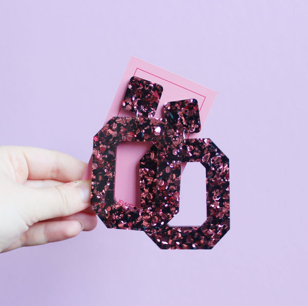 Pop Luck - Pink + Black Pop Glitter
