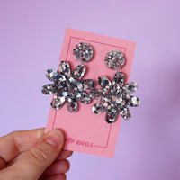 Asylum Seeker Welcome Centre Jewels - Mini Spring Flings - Chunky Silver Glitter