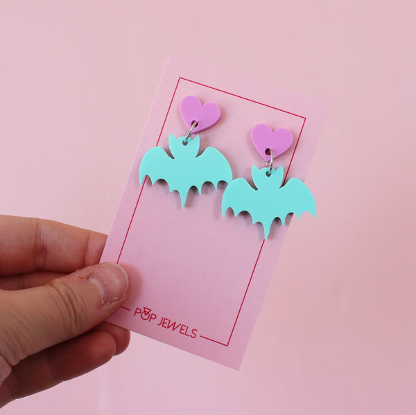 Cute Bats - Matte Mint/Bubblegum