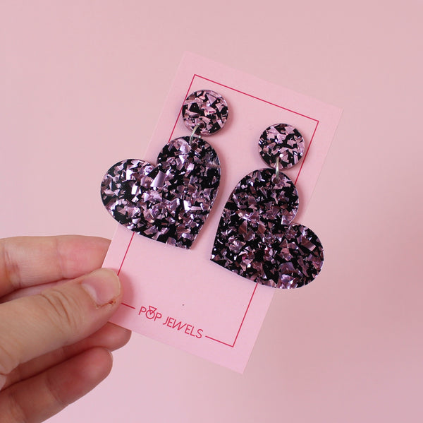 Mini Heartbeats - Pink Crackle