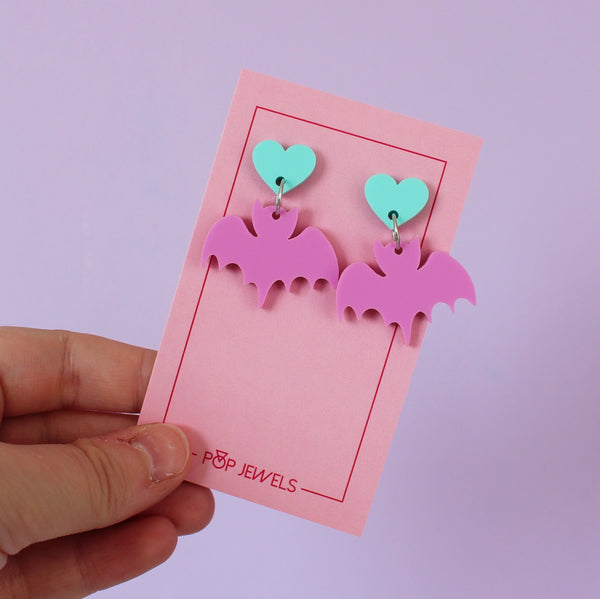 Cute Bats - Matte Bubblegum/Mint