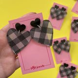 Dorothy Hearts - Black Gingham/Black Gloss